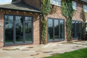 Aluminium Double Glazed Sliding Folding Doors
